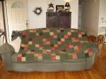 Dad's flannel/chenille quilt