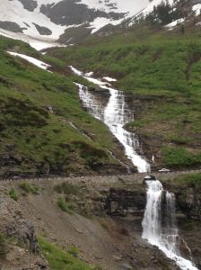 Huge waterfall - Glacier NP