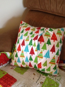 Christmas PIllow back