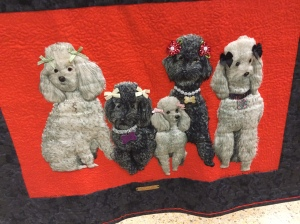 The Poodles  Who Have Quilted With Me