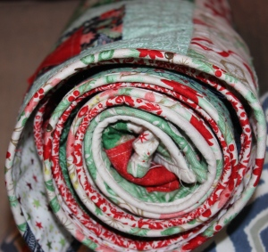 scruffily christmas quilt